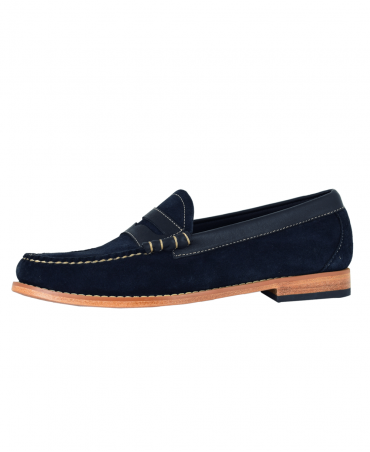 Weejuns Navy Larson Reverso Loafers
