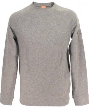 Hugo Boss 'Wheel' Sweatshirt In Marl Grey