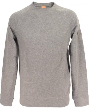 Hugo Boss 'Wheel' Sweatshirt In Marl Grey