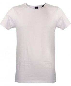 Scotch & Soda White 124891 Plain Crew Neck T-shirt