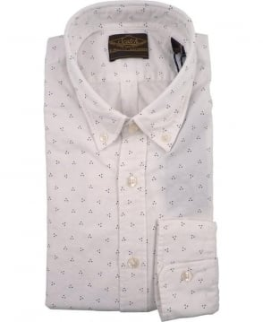 Scotch & Soda White 127071 Allover Print Button Down Collar Shirt