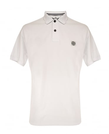 Stone Island White 22C15 Polo Shirt