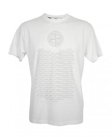 Stone Island White 2NS86 Habitat T-Shirt