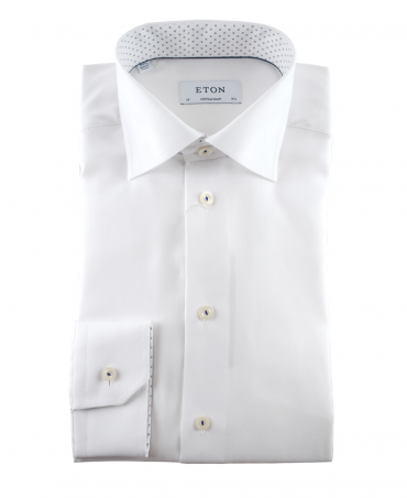 Eton White 307379436 Contemporary Fit Shirt