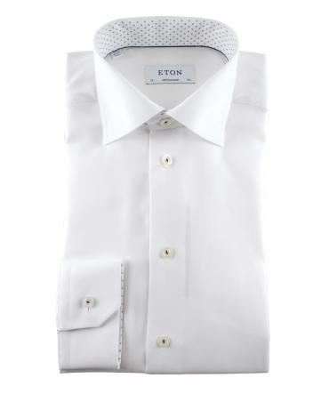 Eton White 307379436 Contemporary Fit Shirt