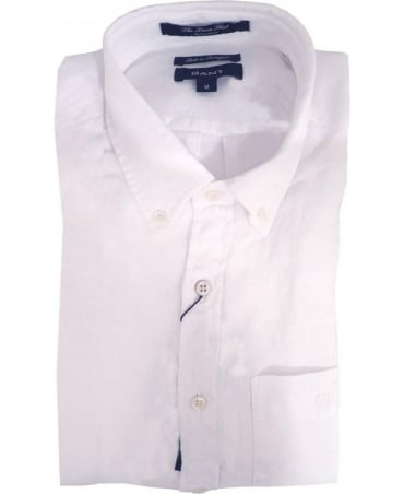 Gant White 399510 The Linen Shirt