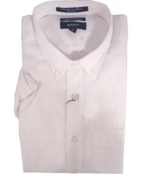 Gant White 399511 The Linen Short Sleeve Shirt Shirt