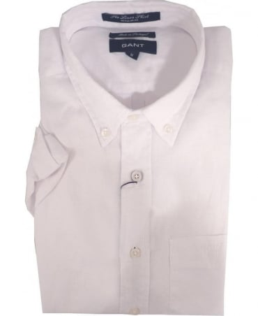 Gant White 399511 The Linen Short Sleeve Shirt Shirt