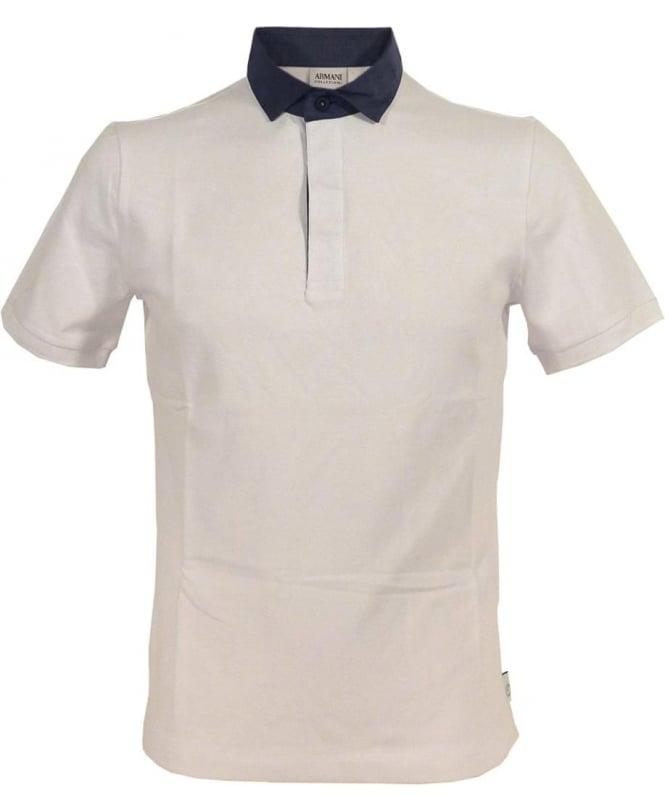 Armani White 3XCF57 Short Sleeve Polo