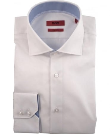 Hugo White 50301699 C-Eraldin Blue Trim Shirt