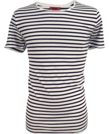 Hugo White 50310465 Doenix Stripe T-shirt