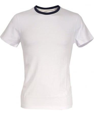 Colmar Originals White 7558 Navy Crew Neck T-shirt