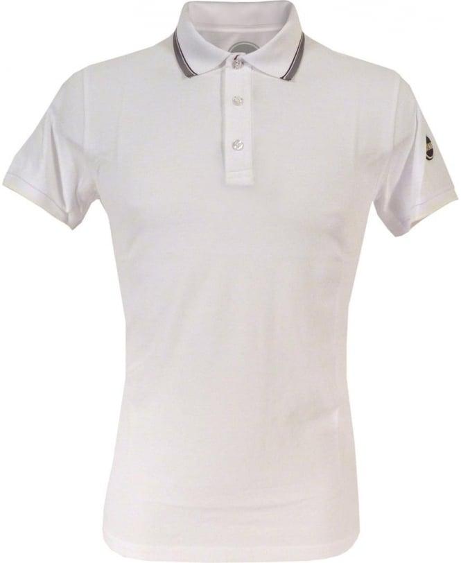 Colmar Originals White 7659W Grey Trim Polo