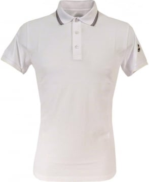Colmar Originals White 7659W Grey Trim Polo