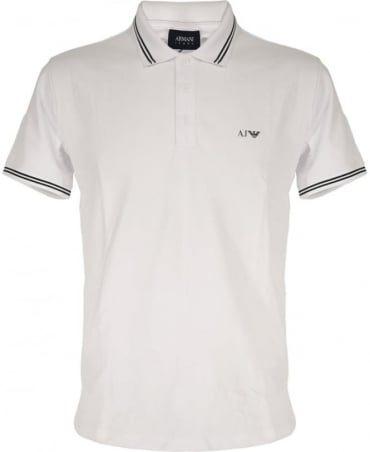 Armani Jeans White 8N6F2B Short Sleeve Polo Shirt