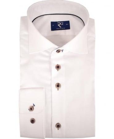 R2 Westbrook White 92 WSP 01 Long Sleeved Shirt
