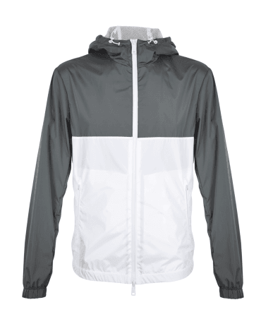White And Grey Lightweight Jacket