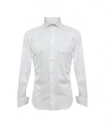 Bonser White B115 Slim Fit Double Cuff Shirt