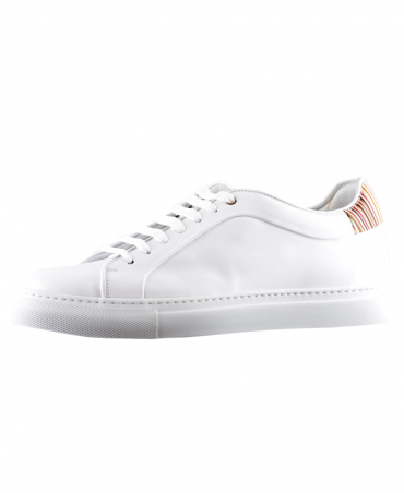 White Basso Leather Trainer