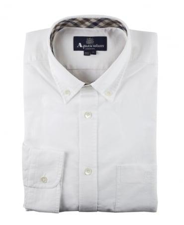 Aquascutum White Bevan Classic Oxford Shirt