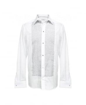 Eton Shirts White & Black Stripe Stud Fasten Dress Shirt