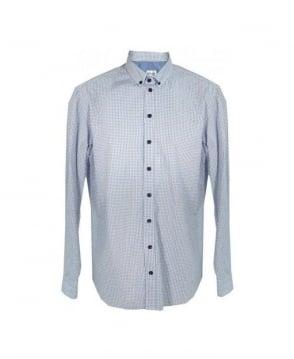 Armani Collezioni White & Blue Check Shirt