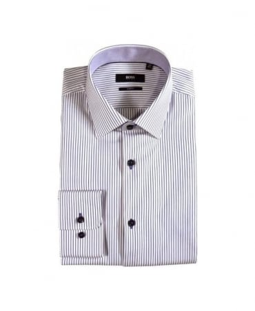 Hugo Boss White & Blue Stripe Juri Shirt