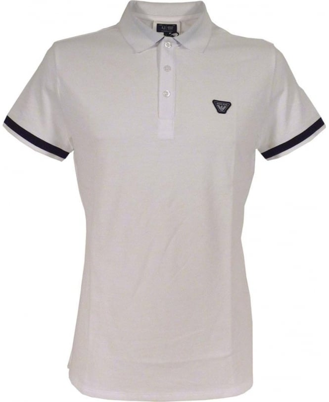 Armani Jeans White C6M97 Short Sleeve Polo Shirt