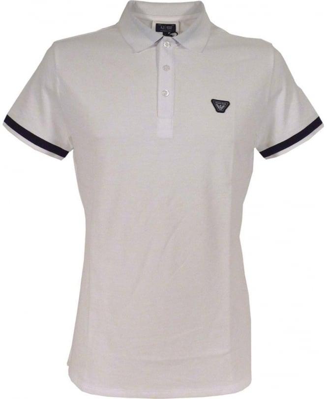 Armani Jeans White C6M97 Short Sleeve Polo Shirt