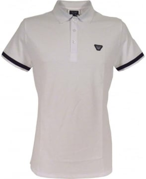 Armani White C6M97 Short Sleeve Polo Shirt