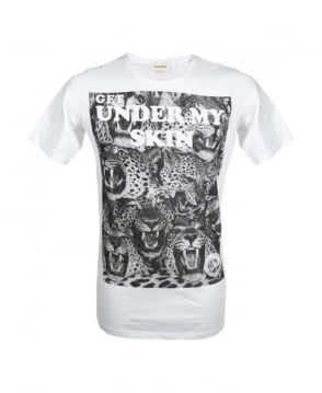 Diesel White Carpet Graphic Print T-Shirt