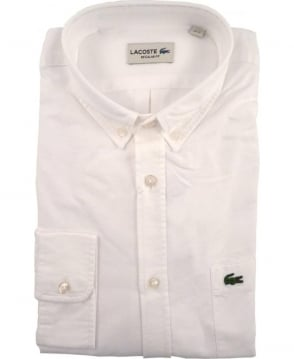 Lacoste White CH2286 Oxford Cotton Shirt
