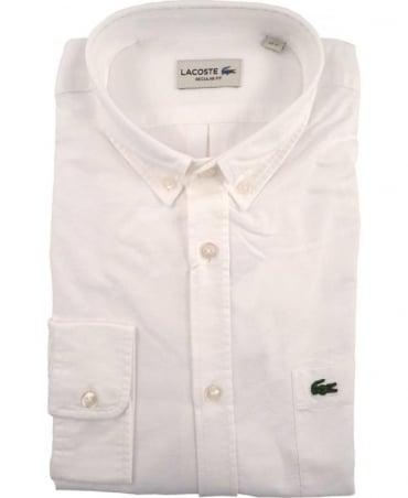Lacoste White CH2286 Oxford Cotton Shirt