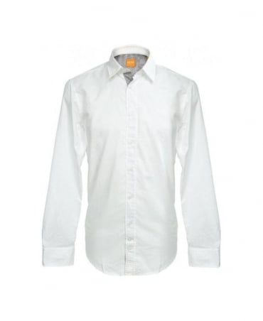 Hugo Boss White CliffE Slim Casual Fit Shirt
