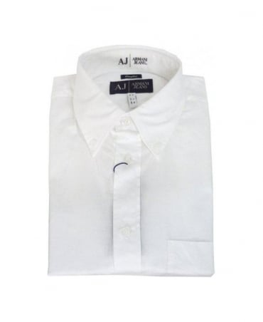 Armani White & Comfort Fit Shirt