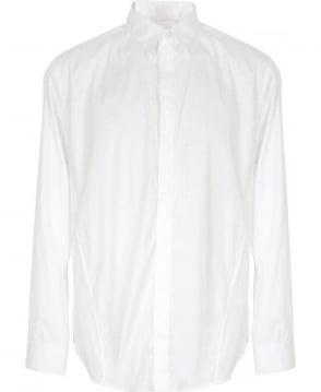 Armani Collezioni White Concealed Button Formal Collezioni Shirt