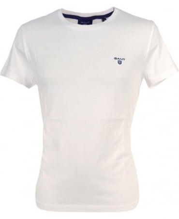 Gant White Contrast Logo T-Shirt
