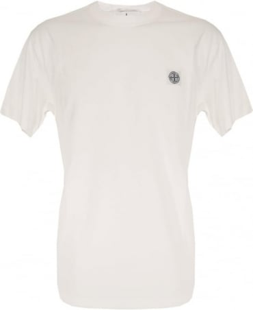 Stone Island White Crew Neck 21142 T-Shirt