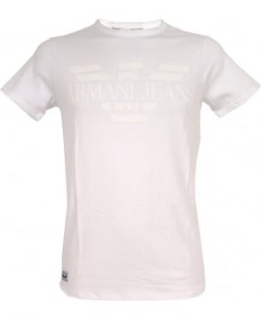 Armani Jeans White Crew Neck B6H01NM T-Shirt