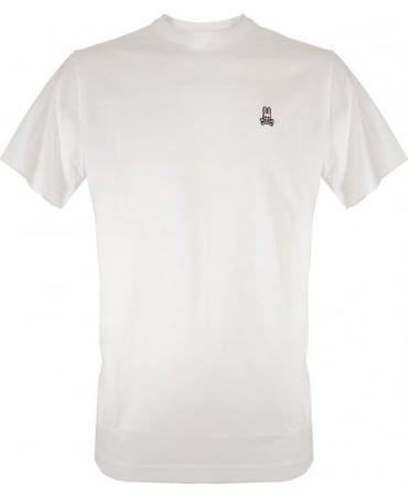 Psycho Bunny White Crew Neck B6U014CRPC T-Shirt