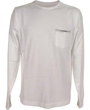 CP Company White Crew Neck F03192 Sweatshirt