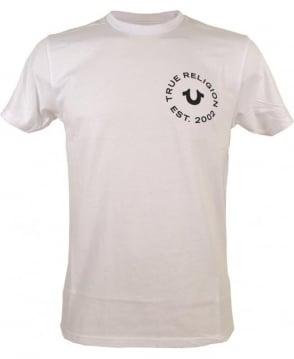True Religion White Crew Neck MA4510F9 T/Shirt