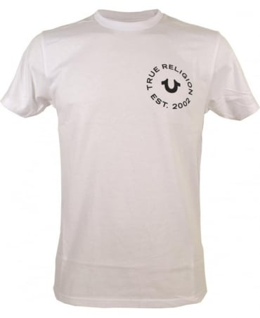 True Religion White Crew Neck MA4510F9 T/Shirt
