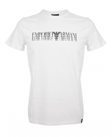 White Crew Neck T-Shirt With Printed Logo