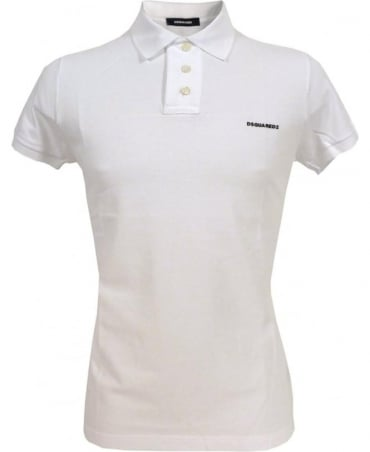Dsquared2 White D7MD10580.11050 Four Button Polo