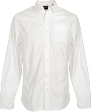 Scotch & Soda White Dandy Round Collar Shirt