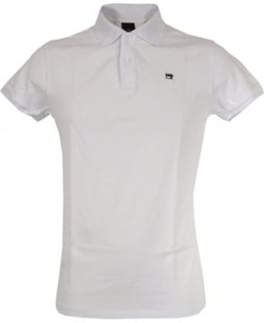 Scotch & Soda White Dyed Logo Polo Shirt