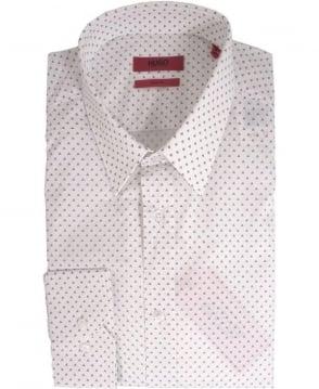 Hugo White Elisha 50284432 Triangle Print Shirt