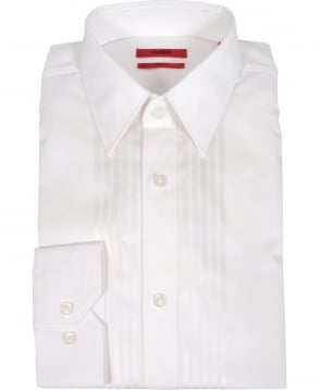 Hugo White Elisha Slim Fit Shirt