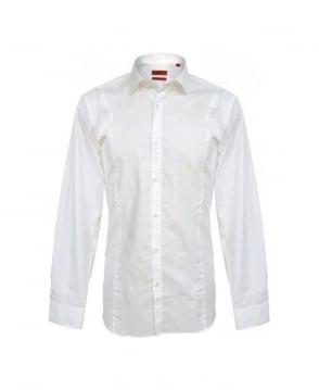 Hugo White Etello 50249022 Slim Fit Shirt